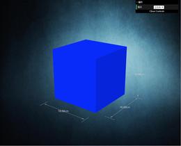 Three.js模型展示标尺及视角自动调整